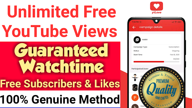 How To Get Unlimited Free YouTube Video Views With Guaranteed Watch Time Up To 10 Minutes 😎