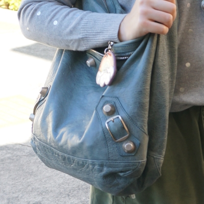 silver foil knit, Balenciaga giant hardware Day bag in 2009 tempete   away from the blue