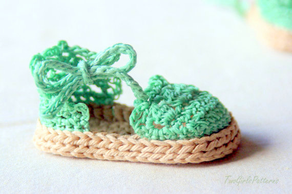 baby booties espadrilles Crochet pattern