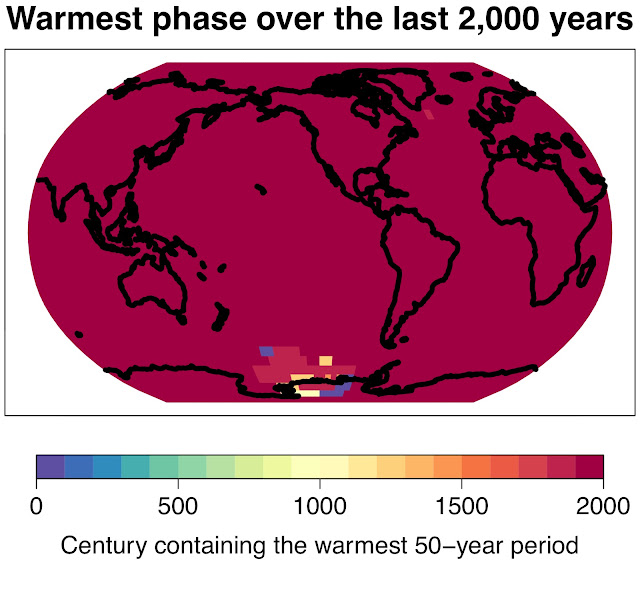 The climate is warming faster than it has in the last 2,000 years