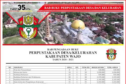 Contoh RAB Pengadaan Buku Desa Kabupaten Wajo Provinsi Sulawesi Selatan Paket 35 Juta