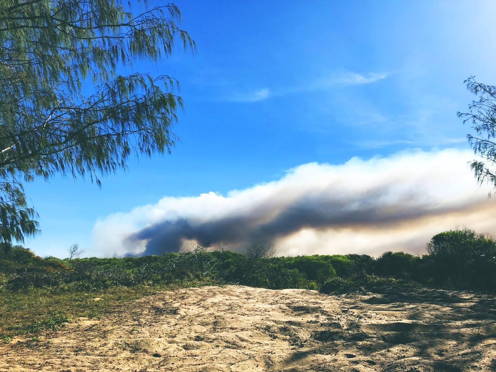 Pożar lasu w Kinkuna National Park