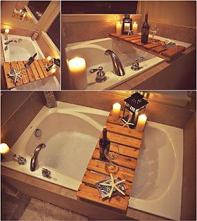 fürdőkád rátét raklapból
