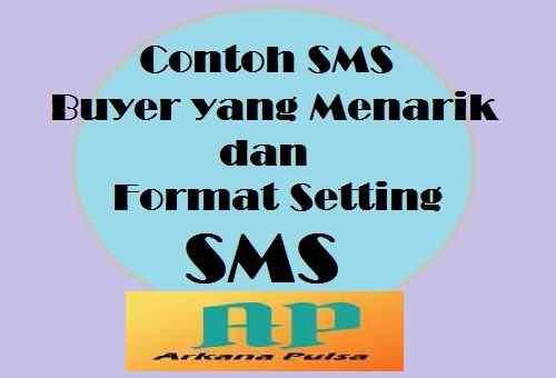 Cara Setting Iklan SMS Buyer Arkana Pulsa