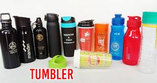 Tumbler merupakan salah satu rekomendasi souvenir menarik untuk media promosi