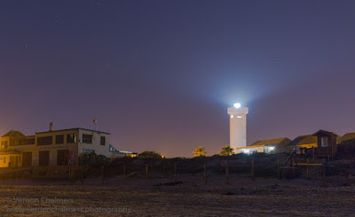 Copyright Vernon Chalmers Lighthouse over Milnerton Beach / Woodbridge Island