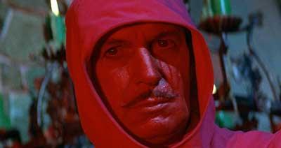Vincent Price en La Mascara de la Muerte Roja