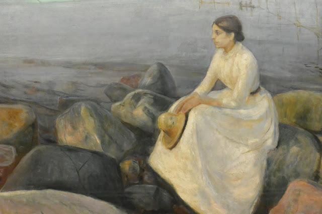 Bergen : musée des Beaux-Arts  Edvard Munch : Inger à la plage