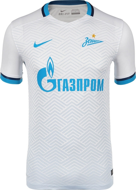 """5c0bb1618a0 The number """"90"""" is printed on the inside of the emblem of Zenit s new 15-16  jersey to honor the 90-years anniversary of the Russian club."""