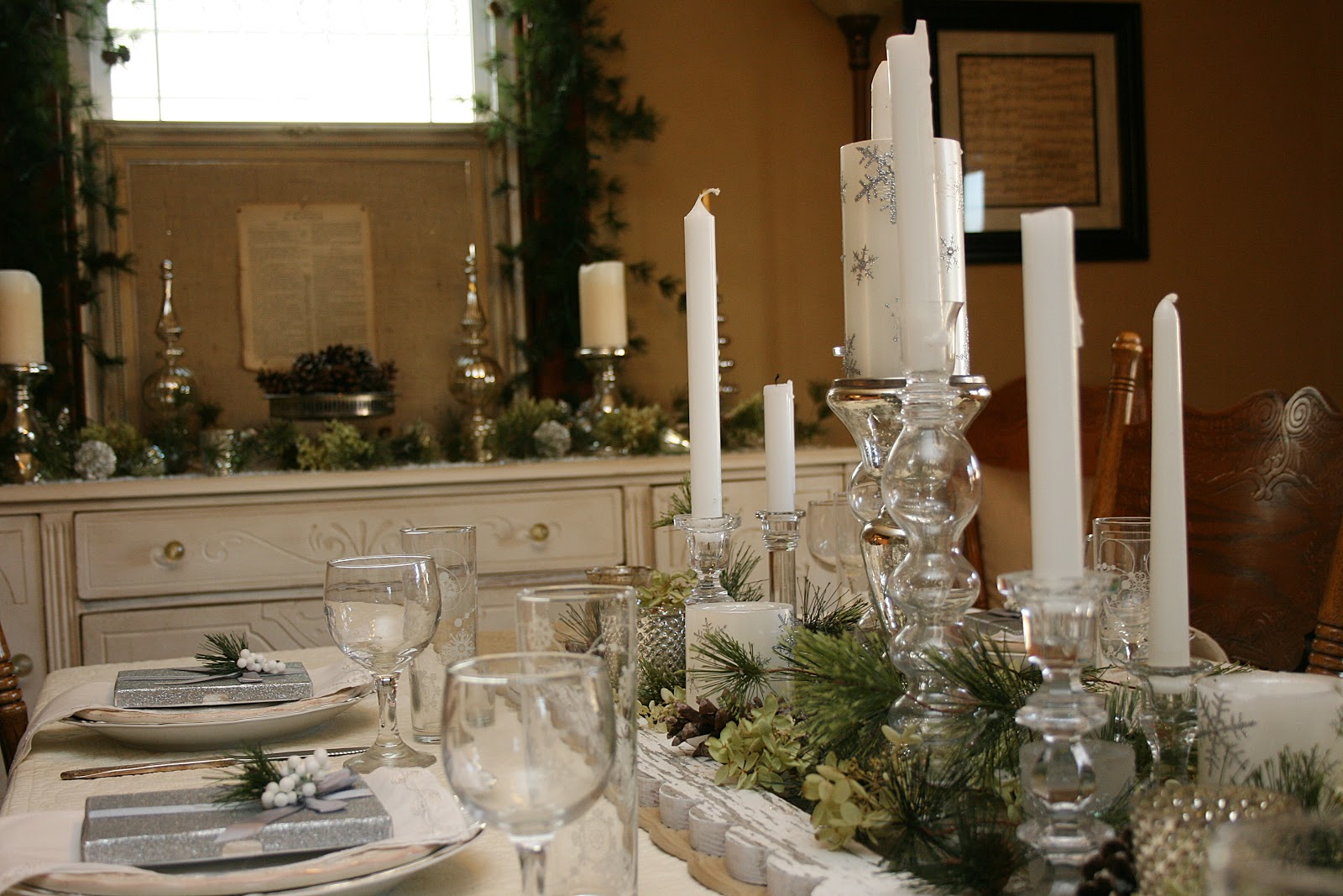 Im dreaming of a white elegant vintage tablescape  Celebrating the Moments by Marcie