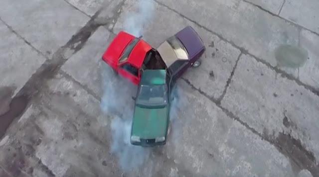 Rusos crean un increíble Spinner, con tres automóviles
