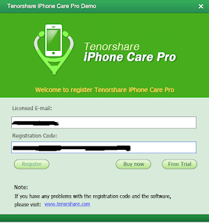 Register On iPhone Care Pro