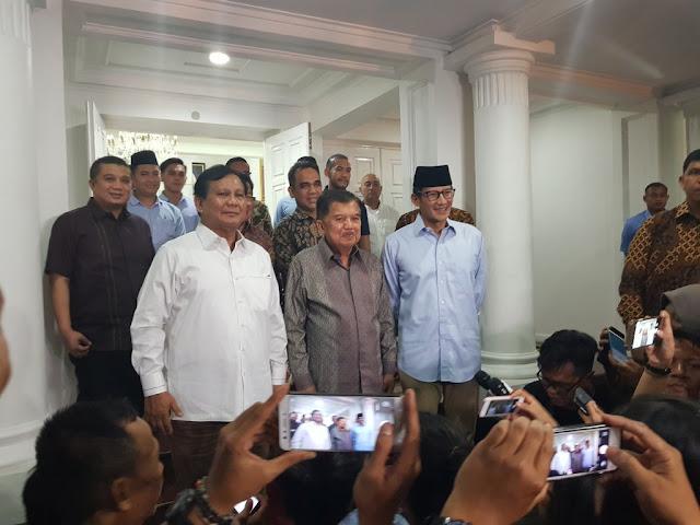 Tim Prabowo: Kritikan JK Untuk Meluruskan Tim Jokowi