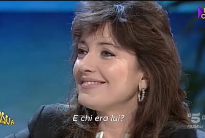Barbara Palombelli viso capelli neri da giovane