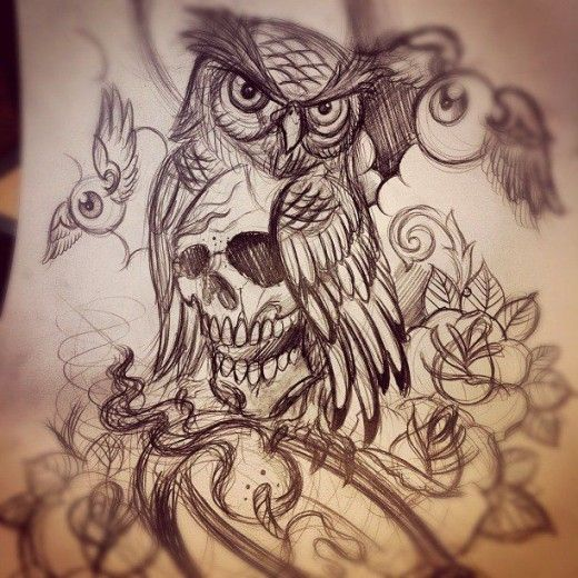 21+ Awesome Skull Tattoos Designs