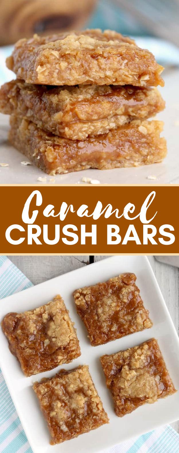 Caramel Crush Bars #desserts #sweets #caramel #bars #easyrecipe