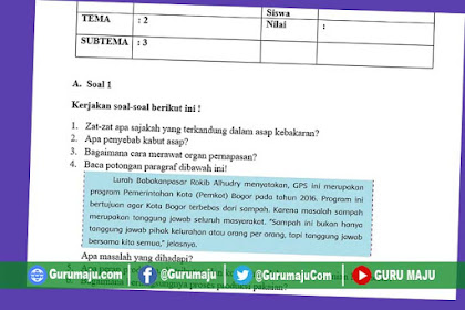 Soal UH / PH Kelas 5 Tema 2 Kurikulum 2013 Revisi Tahun 2019