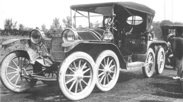 www.fertilmente.com.br - Overland Octoauto de 1911, porque pagar apenas 4 pneus se você pode pagar por 8