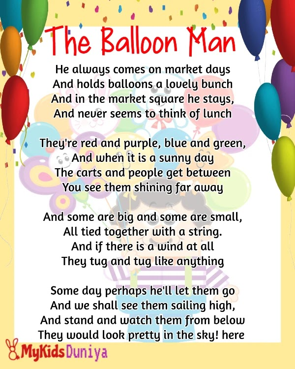 The Balloon Man | English Rhymes for Kids