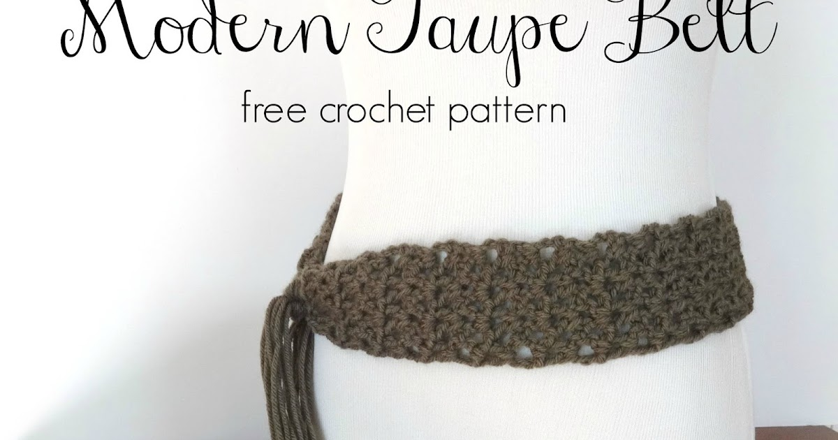Fiber Flux Free Crochet Patterndern Taupe Belt
