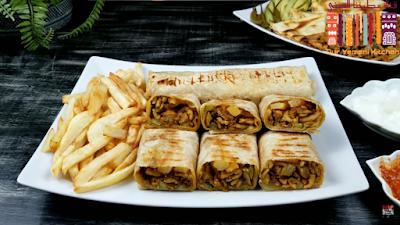 طريقه شاورما الدجاج | خبز الصاج | الثومية | وصفة تنافس المطاعم