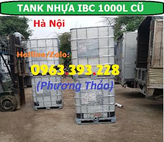 Bán Tank nhựa IBC 1000L cũ, bồn nhựa 1 khối đã qua sử dụng tại Hà Nội
