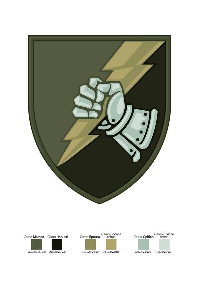 Нарукавна емблема танкового батальйону ДШВ ЗСУ