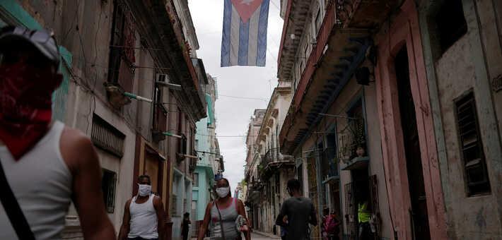 Brote de Covid-19 en las calles de La Habana / VOA
