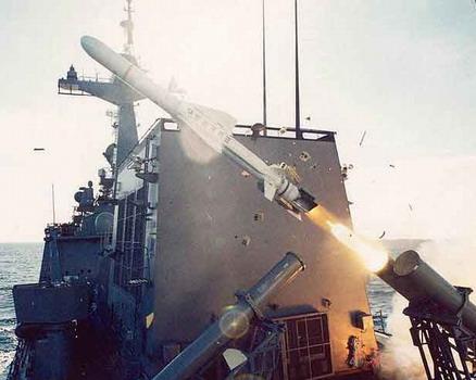 Resultado de imagen de misiles antibuque Haeseong y Harpoon,