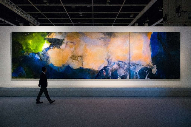 00bb21c0 Chinese Artist Zao Wou-Ki Painting 'Juin-Octobre 1985' Sells for $65 ...