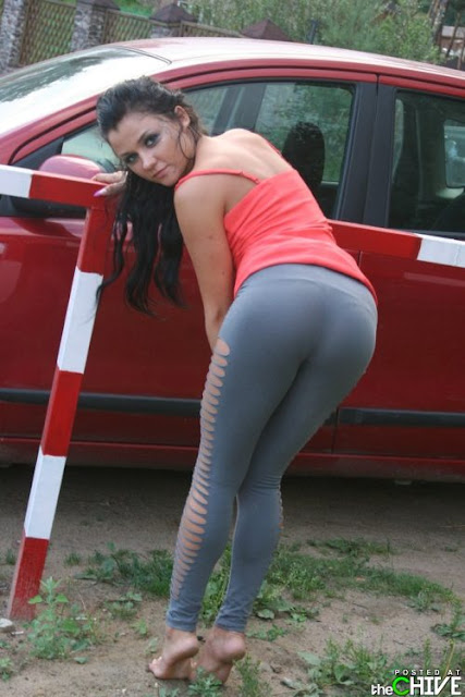 Beautiful Aunty in tight yoga Dress