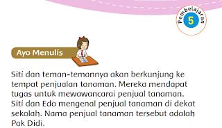 MATERI DAN KUNCI JAWABAN BUKU SISWA KELAS 3 SD TEMA 2 SUBTEMA 3 PEMBELAJARAN 5