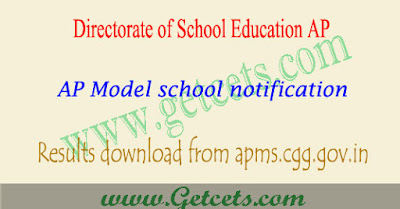 AP Model school results 2021-2022, apms merit list pdf