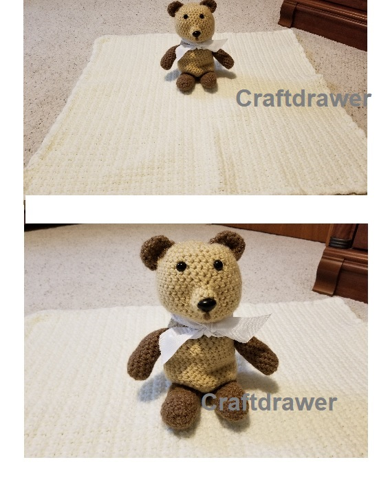 Free Crochet Teddy Bear and Blanket Pattern