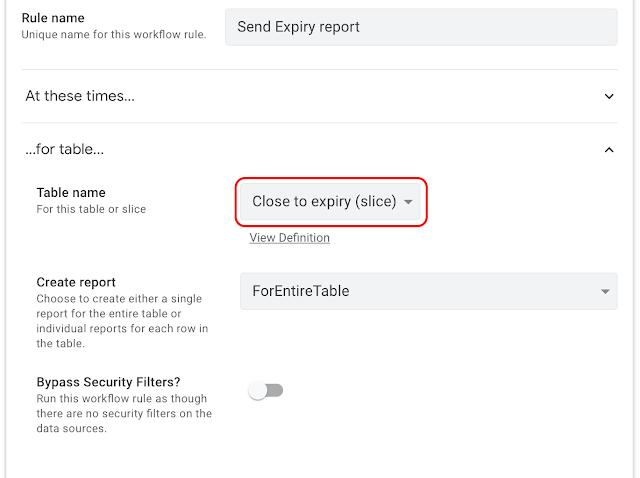 AppSheetで在庫管理、レポートの対象テーブルを指定する