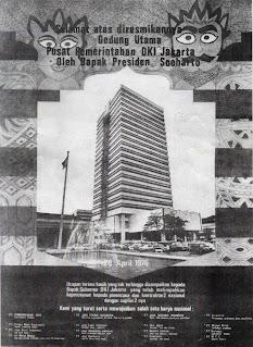 Iklan peresmian Gedung Blok G Balai Kota Jakarta, April 1976