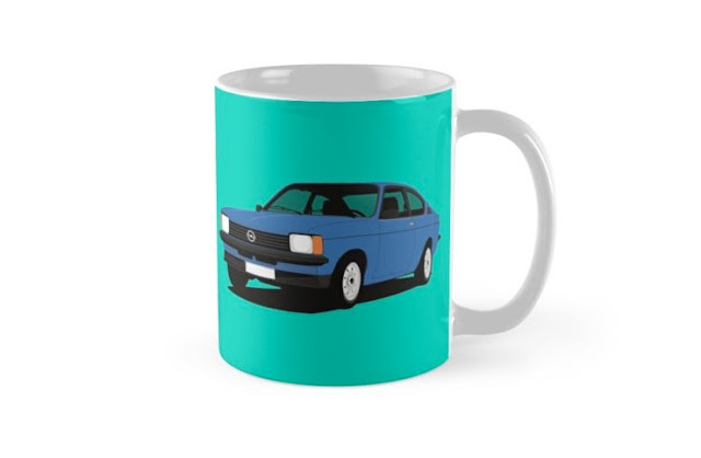 Opel Kadett C Coupe car coffee mug
