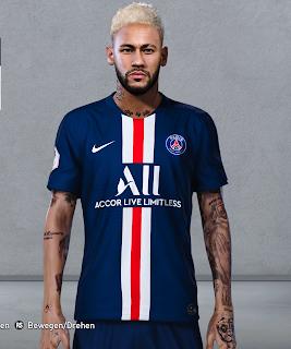 PES 2020 Faces Neymar Jr [ Blonde ] by Hasann