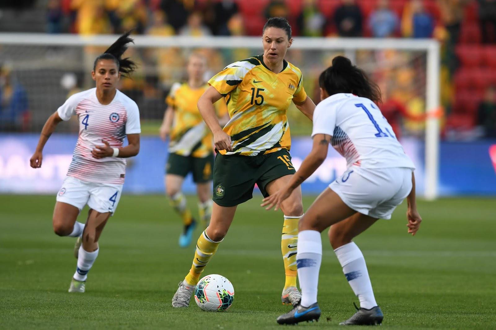 Australia y Chile en partido amistoso femenino, 12 de noviembre de 2019
