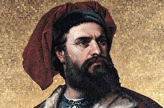 Retrato de Marco Polo, pensando en las maravillas que había conocido durante su viaje a Catay.