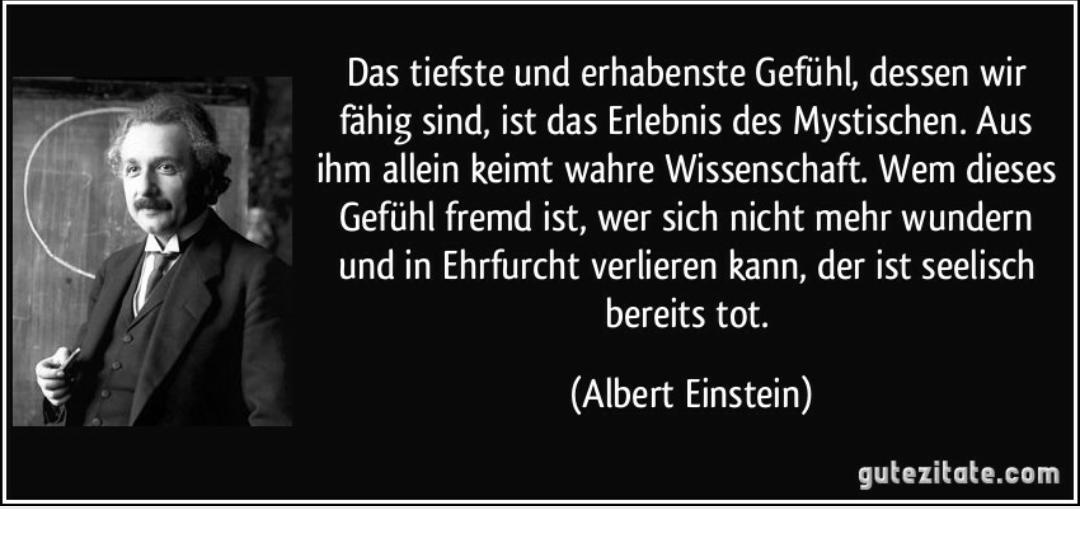 Entstelltes Einstein Zitat