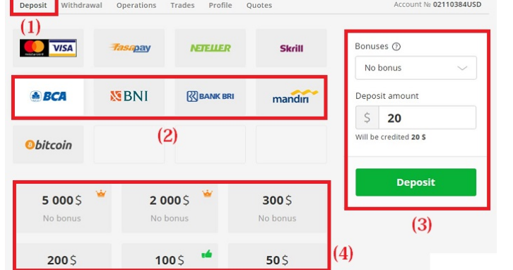 Begini Cara Deposit Olymp Trade Lewat Bank Lokal - Tradelina