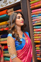 Puja Hegde looks stunning in Red saree at launch of Anutex shopping mall ~ Celebrities Galleries 042.JPG