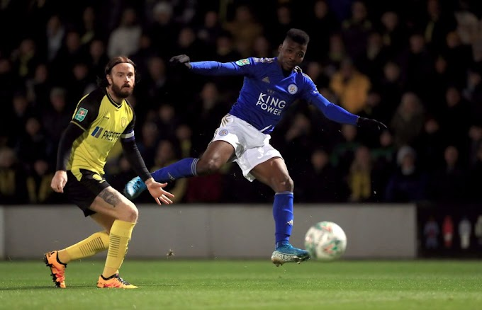 Burton Albion vs Leicester City: Iheanacho powers Foxes to Carabao cup quarterfinal