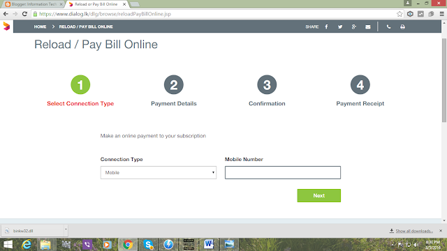 How to reload your mobile online or pay you bill online