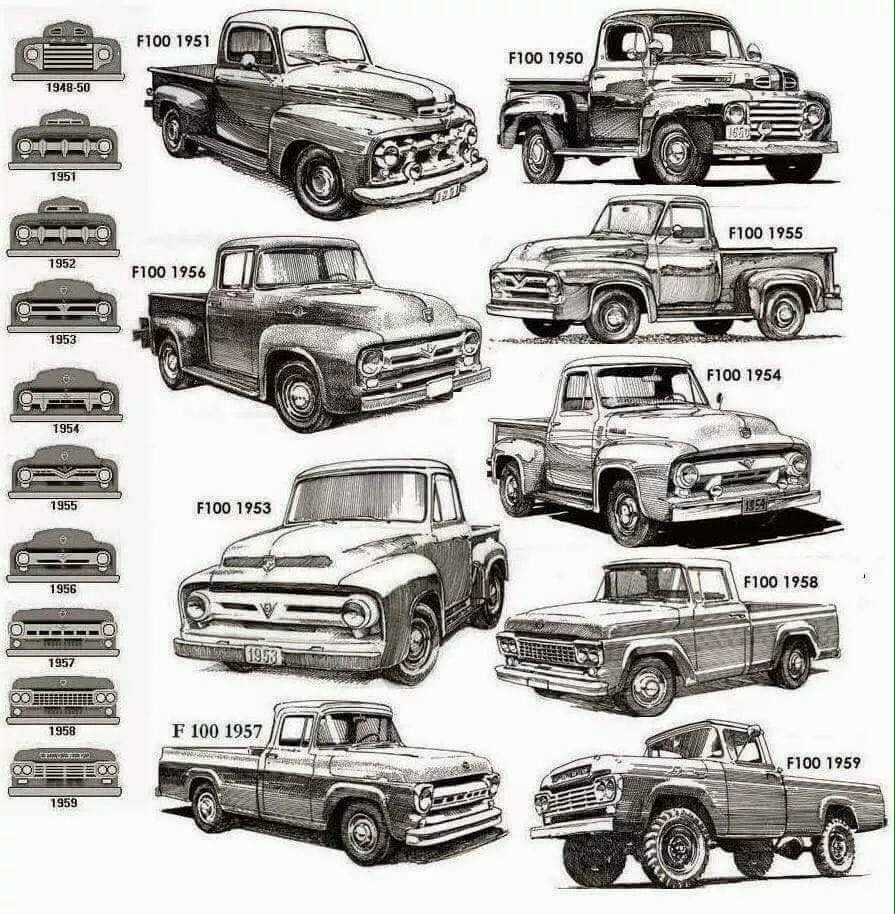 Just A Car Guy Ford Truck Visual Identification Guide 1948 Semi
