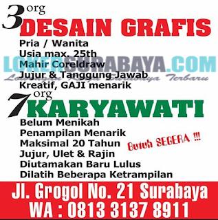 URGENT !!! Dibutuhkan Segera Tenaga Kerja di CV Kita Happy Surabaya Juni 2019