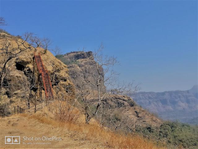 Sudhagad fort trek, iron ladder