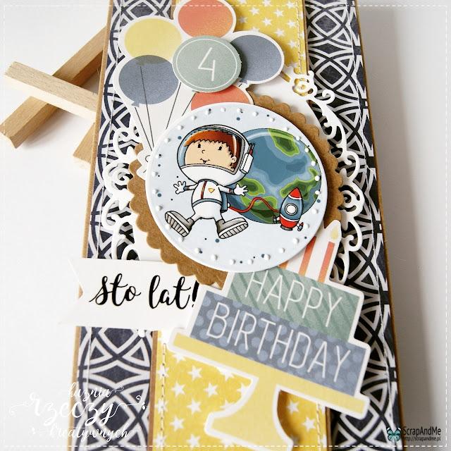 Kartka urodzinowa dla chłopca z papieru z kolekcji Two Faces.