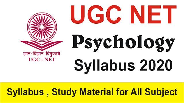 UGC NET Psychology Syllabus 2020; ugc net syllabus; ugc net syllabus 2020